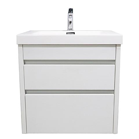 ELITE CUBE 600 2 DRAWER WALL HUNG STOCK VANITY & TOP, 4 COLOURS