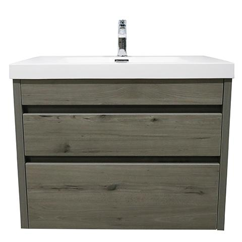 ELITE CUBE 750 2 DRAWER WALL HUNG STOCK VANITY & TOP, 4 COLOURS