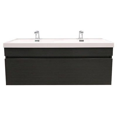 ELITE CUBE 1200 SINGLE DRAWER DOUBLE BASIN WALL HUNG STOCK VANITY & TOP