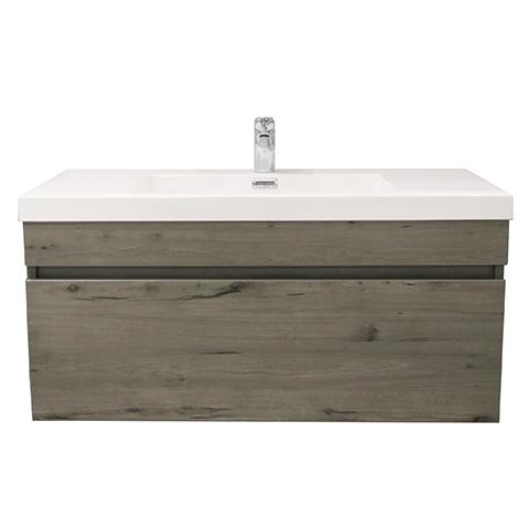 ELITE CUBE 1000 SINGLE DRAWER WALL HUNG STOCK VANITY & TOP