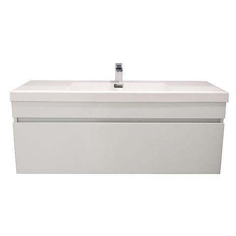 ELITE CUBE 1200 SINGLE DRAWER WALL HUNG STOCK VANITY & TOP