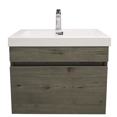 ELITE CUBE 600 SINGLE DRAWER WALL HUNG STOCK VANITY & TOP