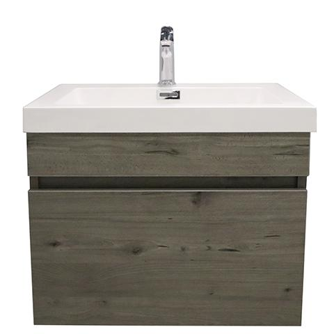 ELITE CUBE 600 SINGLE DRAWER WALL HUNG STOCK VANITY & TOP, 4 COLOURS