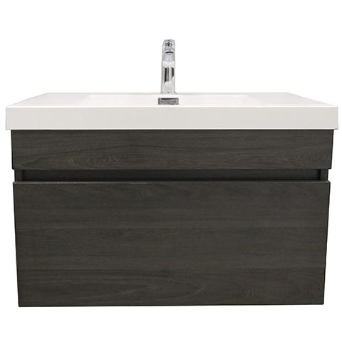 ELITE CUBE 750 SINGLE DRAWER WALL HUNG STOCK VANITY & TOP, 4 COLOURS