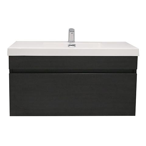 ELITE CUBE 900 SINGLE DRAWER WALL HUNG STOCK VANITY & TOP, 5 COLOURS