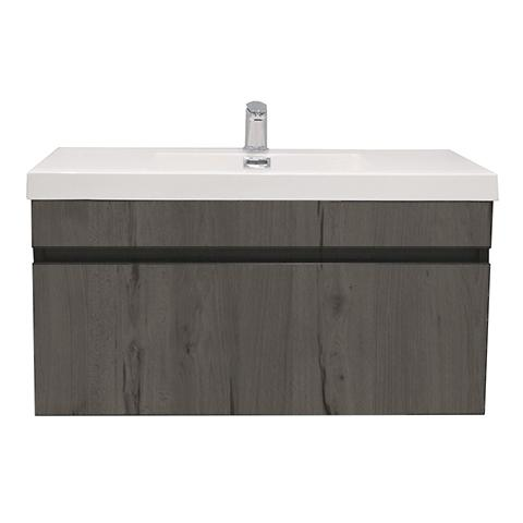 ELITE CUBE 900 SINGLE DRAWER WALL HUNG STOCK VANITY CORONET BEECH