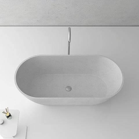 ELITE HALO QUARTZ FREESTANDING BATH 1700X800X550MM 5 COLOURS