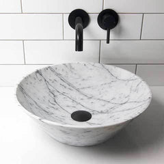 ELITE LAMONE ROUND BASIN 420X130MM NATURAL STONE