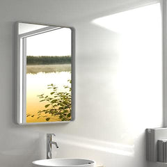 ELITE ENZO QUARTZ FRAMED MIRROR 600X900X50MM 2 COLOURS