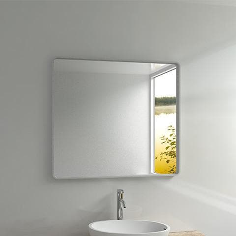 ELITE ENZO QUARTZ FRAMED MIRROR 900X1000X50MM 2 COLOURS