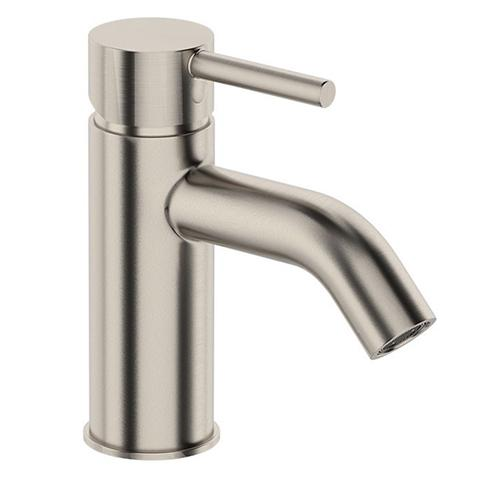 UNO BASIN MIXER CURVED SPOUT BRUSHED NICKEL