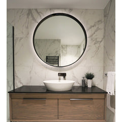 ELITE HALO ROUND FRAMED MIRROR 1100MM 3 COLOURS