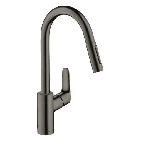 HANSGROHE FOCUS PULLOUT KITCHEN MIXER BLACK POLISHED