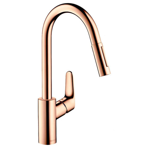 HANSGROHE FOCUS PULLOUT KITCHEN MIXER POLISHED COPPER