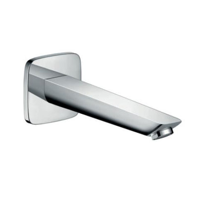 HANSGROHE TALIS E WALL MOUNTED BATH SPOUT 195MM CHROME