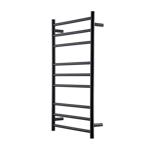 HEIRLOOM GENESIS NERO HEATED TOWEL LADDER 1025X600MM BLACK