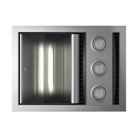 IXL TASTIC NEO VENT WITH SINGLE HEAT & LIGHT SILVER