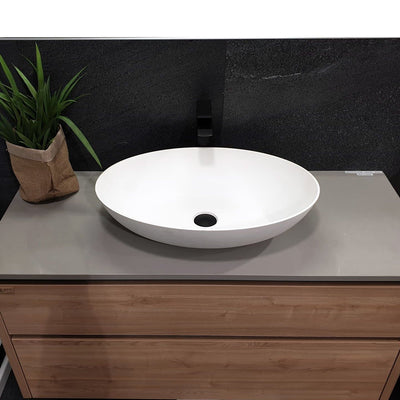 PLUMBLINE SUPER-THIN OVAL VESSEL BASIN 600X400X145MM