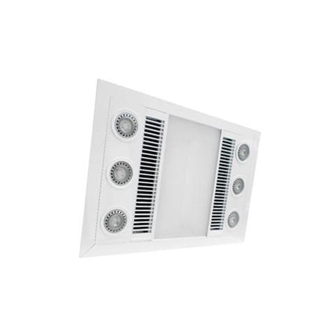 Bathroom Designer Extractor Fans manrose designer heater and extractor fan with led lights
