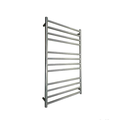 ELITE ROUND HEATED TOWEL LADDER 1200X650MM STAINLESS STEEL