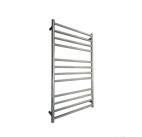 ELITE ROUND HEATED TOWEL LADDER 1200X650MM CHROME