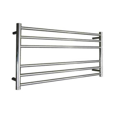 ELITE ROUND HEATED TOWEL LADDER 600X1050MM STAINLESS STEEL