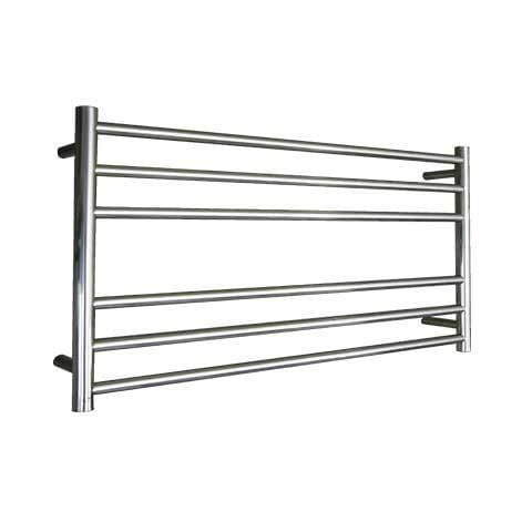 ELITE ROUND HEATED TOWEL LADDER 600X1050MM CHROME