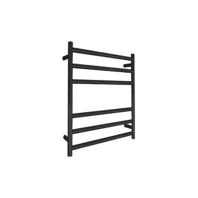 ELITE ROUND HEATED TOWEL LADDER 600X500MM BLACK