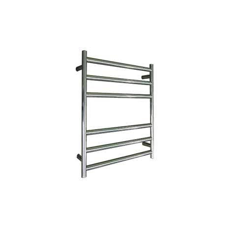 ELITE ROUND HEATED TOWEL LADDER 600X500MM STAINLESS STEEL