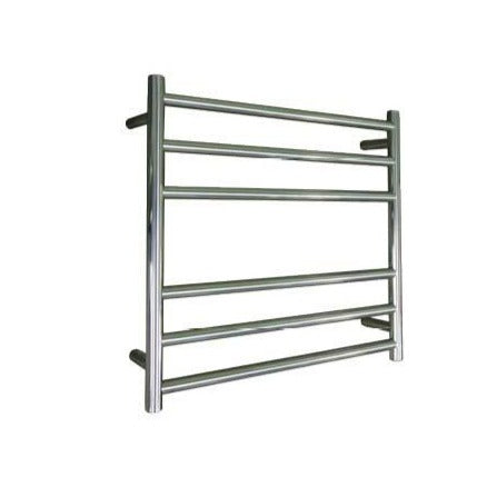 ELITE ROUND HEATED TOWEL LADDER 600X650MM STAINLESS STEEL