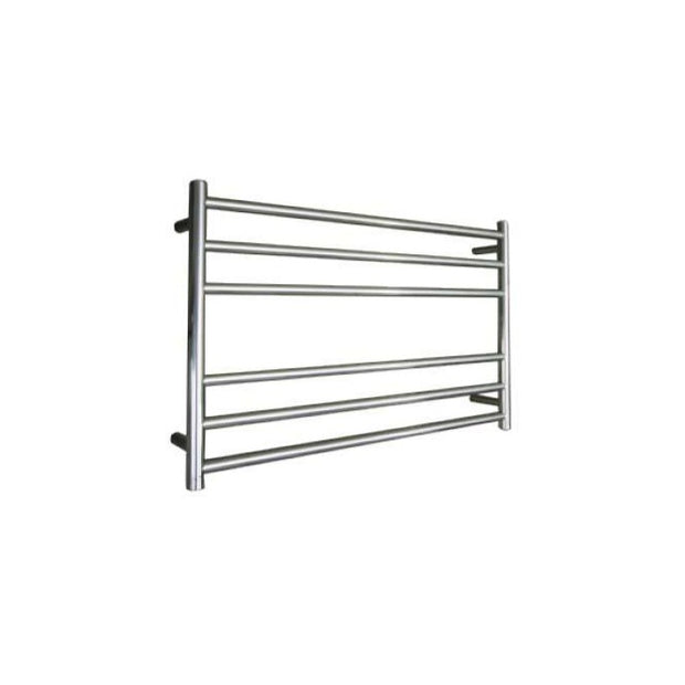 ELITE ROUND HEATED TOWEL LADDER 600X850MM STAINLESS STEEL