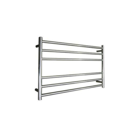 ELITE ROUND HEATED TOWEL LADDER 600X850MM CHROME