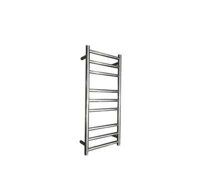 ELITE ROUND HEATED TOWEL LADDER 900X400MM STAINLESS STEEL