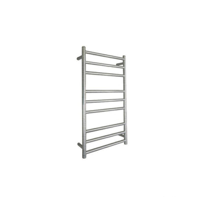 ELITE ROUND HEATED TOWEL LADDER 900X500MM BRUSHED