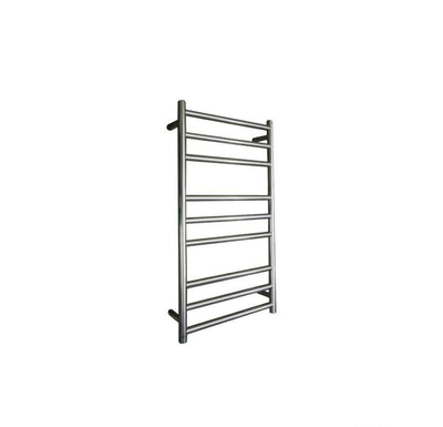 ELITE ROUND HEATED TOWEL LADDER 900X500MM STAINLESS STEEL