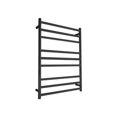 ELITE ROUND HEATED TOWEL LADDER 900X650MM BLACK