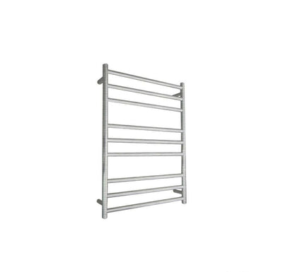 ELITE ROUND HEATED TOWEL LADDER 900X650MM BRUSHED