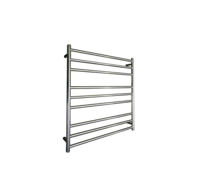 ELITE ROUND HEATED TOWEL LADDER 900X850MM STAINLESS STEEL