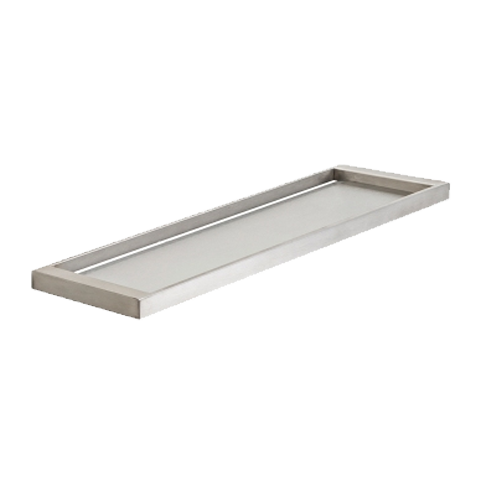 PLUMBLINE METRO SHOWER TRAY BRUSHED STAINLESS STEEL