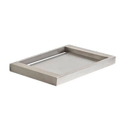 PLUMBLINE METRO SOAP DISH BRUSHED STAINLESS STEEL
