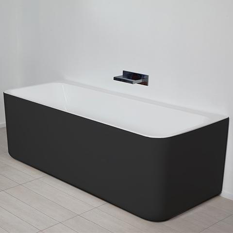 PURE BTW FREESTANDING BATH 1500X720MM BLACK & WHITE - 1 ONLY