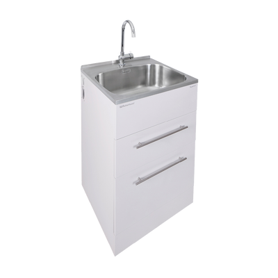 ROBINHOOD ELITE LAUNDRY TUB & TAP 560X562MM 2 DRAWER