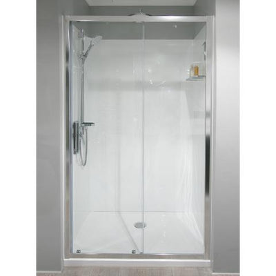 ELITE SLIMLINE FRAMED 2 PANEL SLIDING DOOR SHOWER KIT - ALCOVE FROM $1799