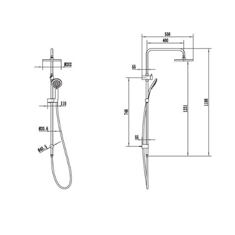 METHVEN WAIRERE SHOWER SYSTEM CHROME