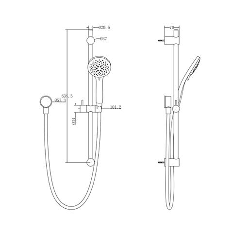 METHVEN WAIRERE SLIDE SHOWER SPEC