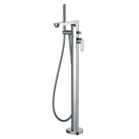 WATERWARE SMART FLOOR MOUNTED BATH FILLER WITH HAND SHOWER CHROME
