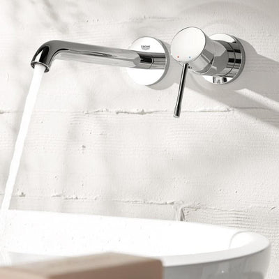 GROHE ESSENCE WALL MOUNTED BASIN MIXER 183MM