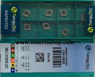 CCMT 060208 MT CT3000  , Inserts , Turning Inserts , CCMT06 , CT3000  , TAEGUTEC, 1 Set = 10 Nos. - Inserts Shop