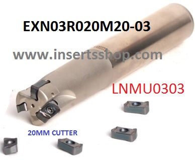 EXN03R020-130-3T , Inserts , Feed Milling Cutter , LNMU0303 20MM CUTTER ,   , CRM, 1 Set = 1 Nos. - Inserts Shop