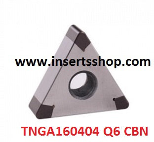 TNGA 160404 Q6 BT6000 , Inserts , CBN Turning Inserts , TNGA16 , CBN  , JINEIT, 1 Set = 1 Nos. - Inserts Shop